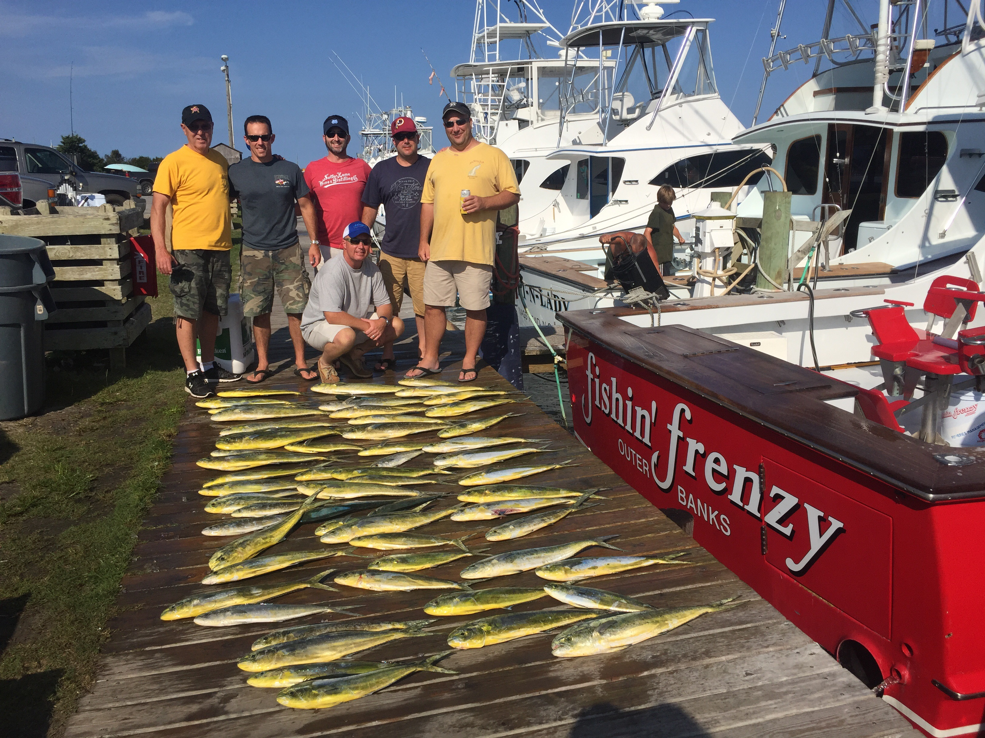 Fishing report fishin frenzy report on the latest obx for Nc fishing report